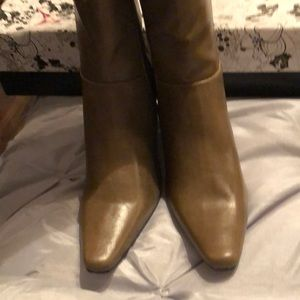 Beautiful Taupe Boots with 2 in. Heel